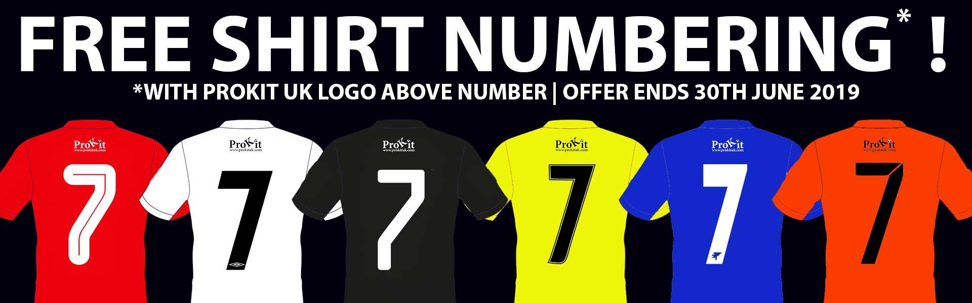 Free Shirt Numbering